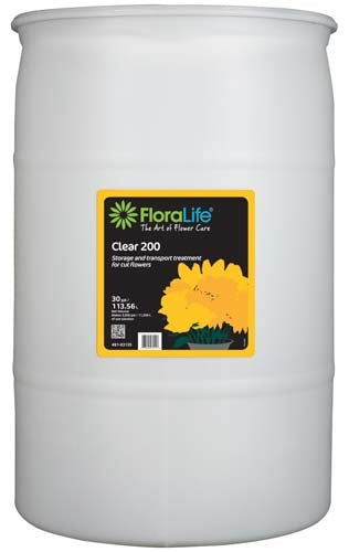 Floralife® Clear 200 Storage & transport treatment, 30 gallon, 30 gallon drum - ifloral.com