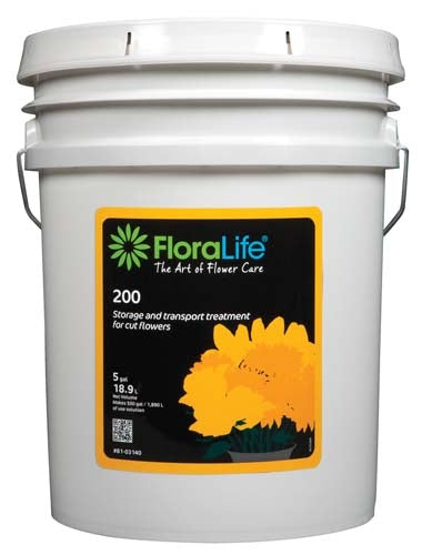 Floralife® 200 Storage & Transport treatment, 5 gallon, 5 gallon pail - ifloral.com
