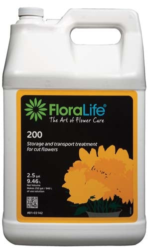 Floralife® 200 Storage & Transport treatment, 2-1/2 gallon, 2-1/2 gallon jug - ifloral.com