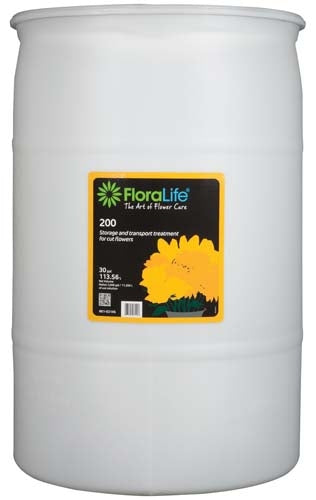 Floralife® 200 Storage & Transport treatment, 30 gallon, 30 gallon drum - ifloral.com
