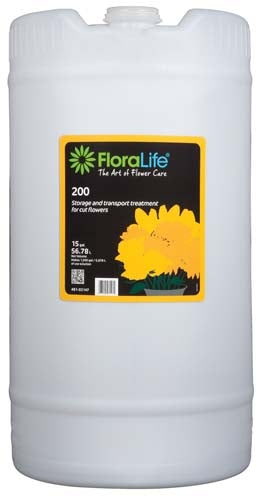 Floralife® 200 Storage & Transport treatment, 15 gallon, 15 gallon drum - ifloral.com