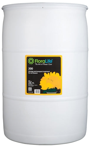 Floralife® 200 Storage & Transport treatment, 55 gallon, 55 gallon drum - ifloral.com