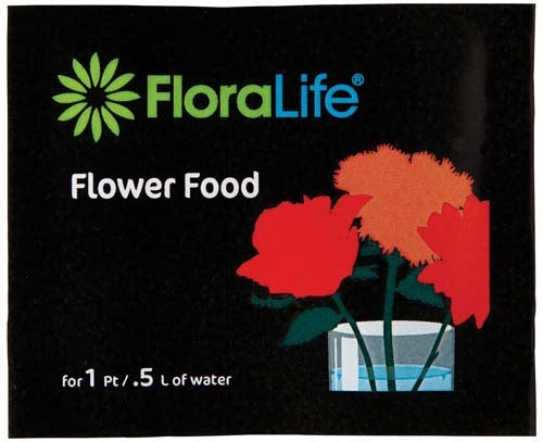 Floralife® Flower Food 300, 1pt/.5L Packet, 200 box, 200 per pack - ifloral.com
