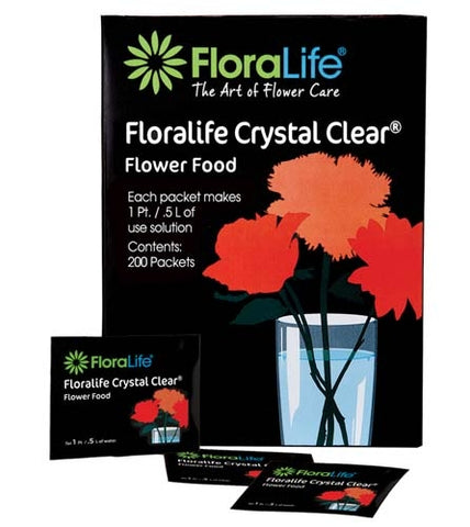 Floralife CRYSTAL CLEAR® Flower Food 300, 1pt/.5L Packet, 200 box, 1,200/case