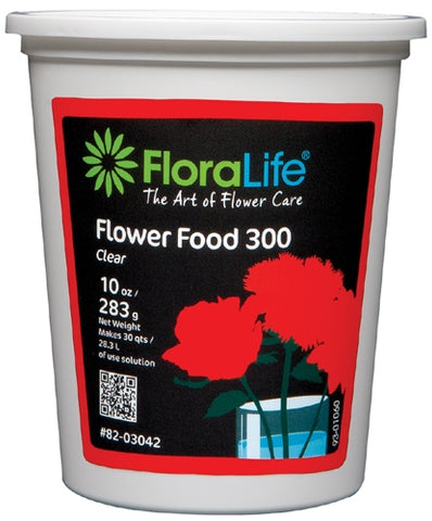 Floralife CRYSTAL CLEAR® Flower Food 300 Powder, 10 ounce, 12/case