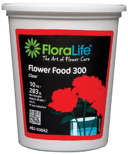 Floralife CRYSTAL CLEAR® Flower Food 300 Powder, 10 ounce, 10 oz. tub - ifloral.com
