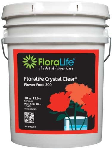 Floralife CRYSTAL CLEAR® Flower Food 300 Powder, 30 lb., 30 lb. pail - ifloral.com