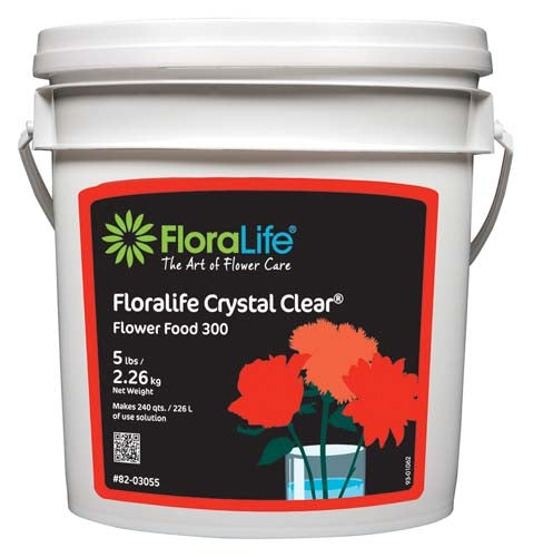 Floralife CRYSTAL CLEAR® Flower Food 300 Powder, 5 lb., 6/case - ifloral.com