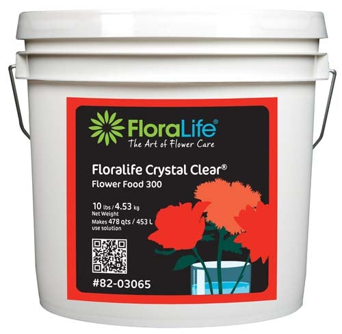 Floralife CRYSTAL CLEAR® Flower Food 300 Powder, 10 lb., 10 lb. pail - ifloral.com