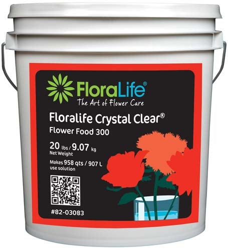 Floralife CRYSTAL CLEAR® Flower Food 300 Powder, 20 lb., 20 lb. pail - ifloral.com