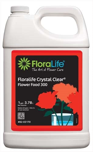 Floralife CRYSTAL CLEAR® Flower Food 300 Liquid, 1 gallon, 1 gallon jug - ifloral.com