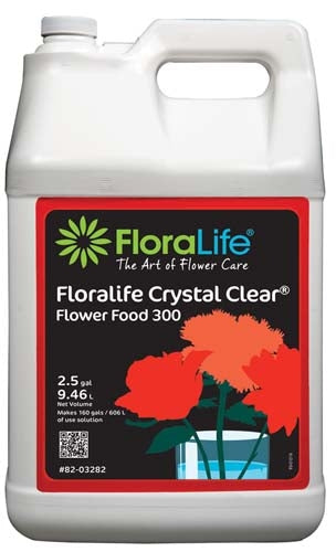 Floralife CRYSTAL CLEAR® Flower Food 300 Liquid, 2.5 gallon, 2.5 gallon jug - ifloral.com