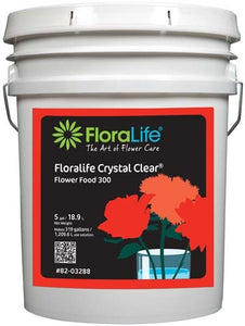 Floralife CRYSTAL CLEAR® Flower Food 300 Liquid, 5 gallon, 5 gallon pail - ifloral.com