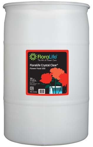 Floralife CRYSTAL CLEAR® Flower Food 300 Liquid, 30 gallon, 30 gallon drum - ifloral.com
