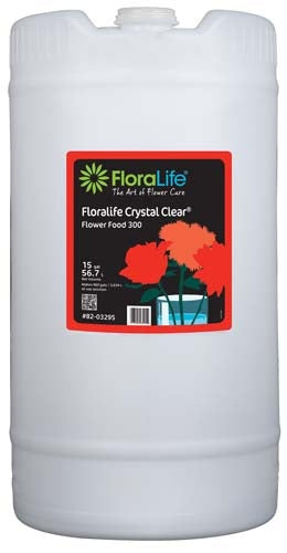 Floralife CRYSTAL CLEAR® Flower Food 300 Liquid, 15 gallon, 15 gallon drum - ifloral.com