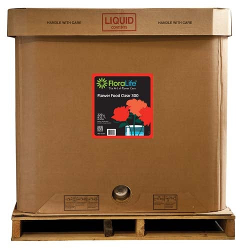 Floralife CRYSTAL CLEAR® Flower Food 300 Liquid, 220 gallon, 220 gallon tote - ifloral.com