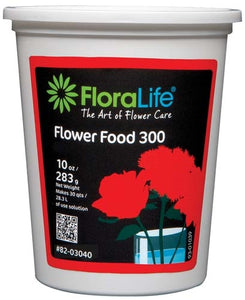 Floralife® Flower Food 300 Powder, 10 oz., 10 oz. tub - ifloral.com