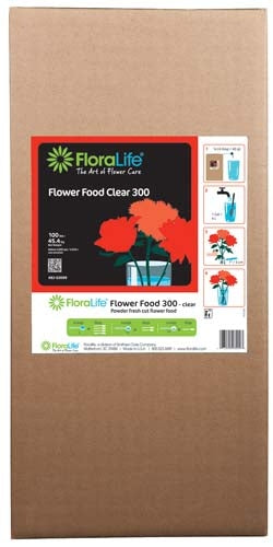 Floralife CRYSTAL CLEAR® Flower Food 300 Powder, 100 lb., 100 lb./box - ifloral.com