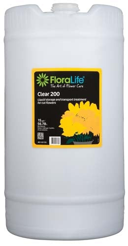 Floralife® Clear 200 Storage & transport treatment, 15 gallon, 15 gallon drum - ifloral.com
