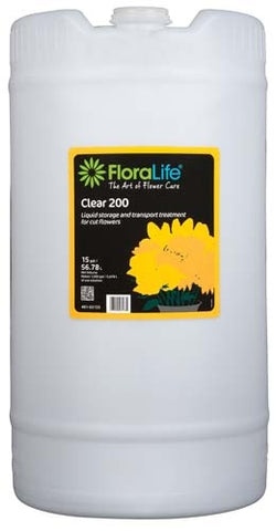 Floralife® Clear 200 Storage & transport treatment, 15 gallon, 15 gallon drum