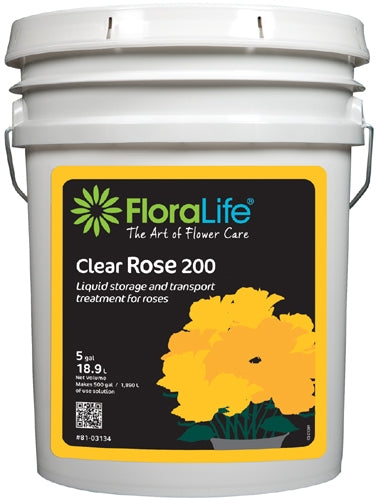 Floralife® Clear Rose 200 Storage & transport treatment, 5 gallon, 5 gallon pail - ifloral.com