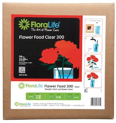 Floralife CRYSTAL CLEAR® Flower Food 300 Powder, 50 lb., 50 lb./box - ifloral.com