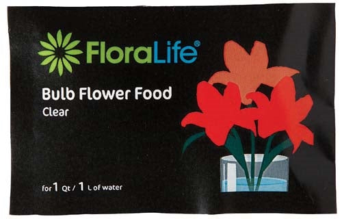 Floralife® Bulb Food Clear 300 Powder, 1Qt./1L packet, 100 box, 600 case - ifloral.com