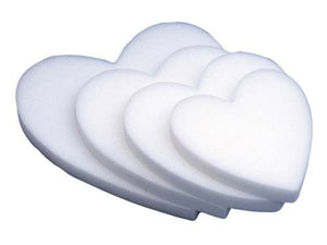 "18"" STYROFOAM® Solid Heart, 12/case - ifloral.com"