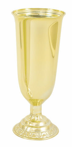 Large Rose Vase, Gold (Pack of 12)