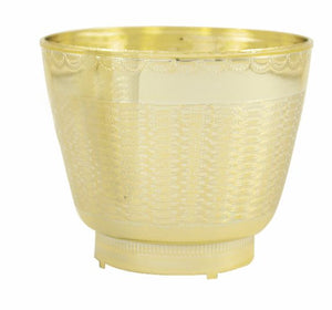 Wicker Planter, Gold (Pack of 48) - ifloral.com