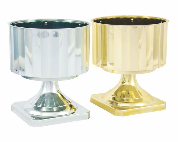 Images Pedestal Bowl, Gold (Pack of 12) - ifloral.com