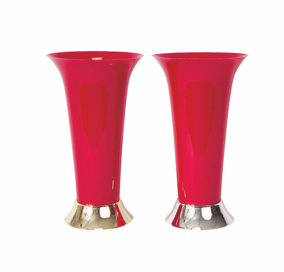 Trumpet Vase, Red (Pack of 12) - ifloral.com
