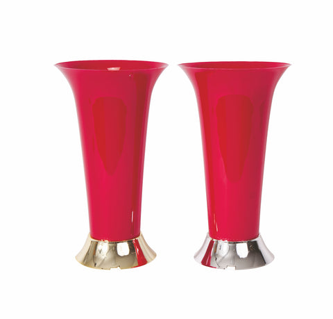 Trumpet Vase, Red (Pack of 12)