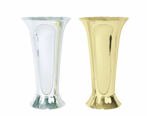 Trumpet Vase, Gold (Pack of 12)