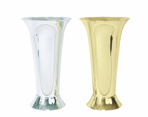 Trumpet Vase, Silver (Pack of 12) - ifloral.com