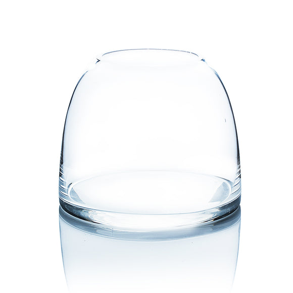 Clear Dome Shaped Terrarium Bowl Glass Vase. Open: 3.6