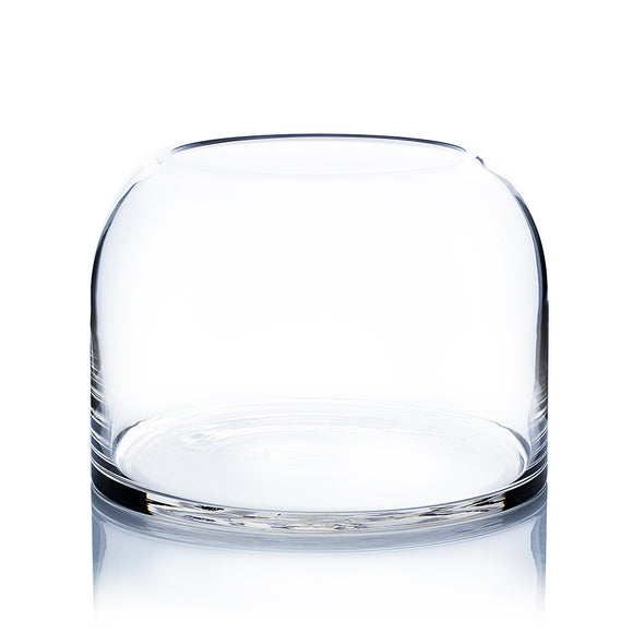 Clear Dome Shape Terrarium Vase. Open: 6.1