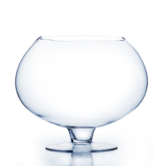 Clear Stem Bowl Vase. Open: 8