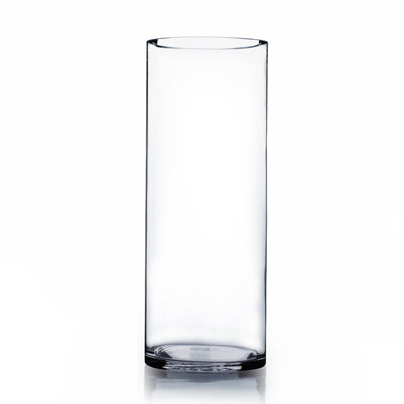 Clear Cylinder Glass Vase. Open: 4