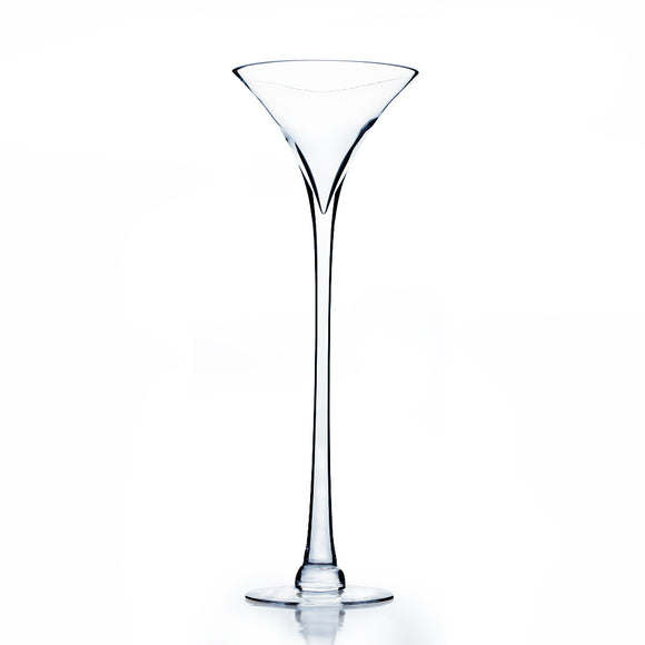 Martini Glass Vase. Open: 7