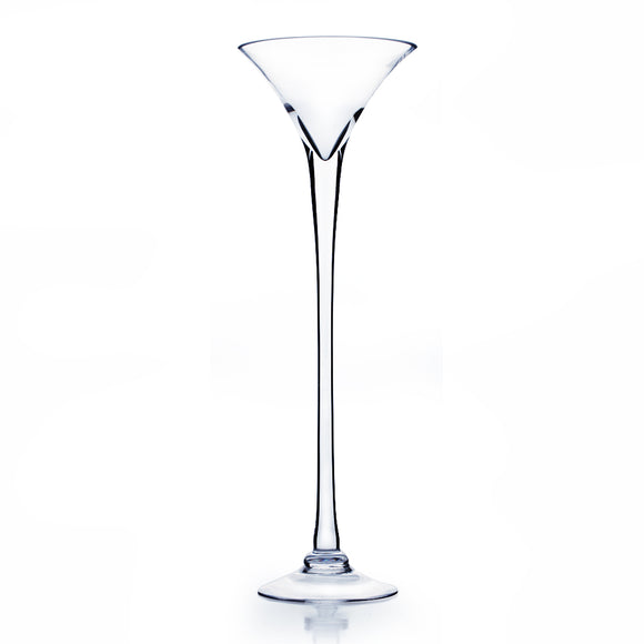 Martini Glass Vase. Open: 8