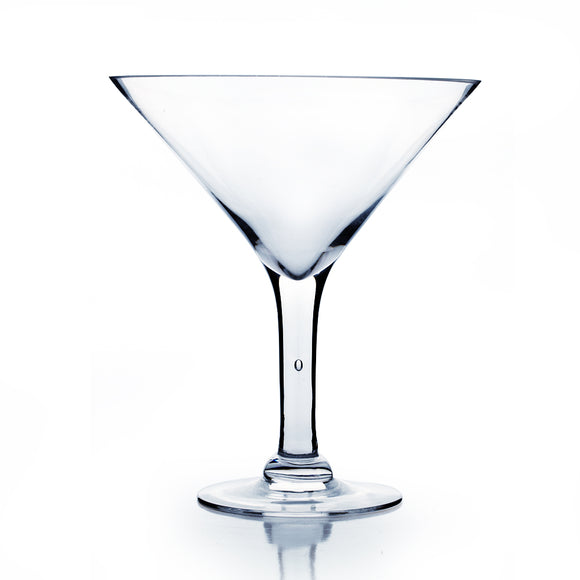 Martini Glass Vase. Open Diameter: 9