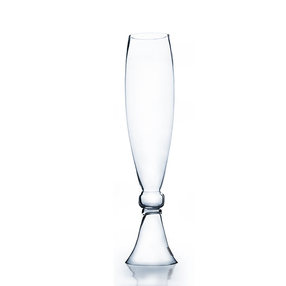 Clear Bud Trumpet Vase. Open: 4