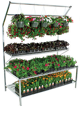 FBP Fence on a Bench Stand with Double Purlin - ifloral.com