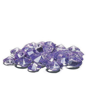 Acrylic Diamond Vase Filler, Table scatter confetti, Color; Purple (500 gems per pack) [CASE OF 12 PACKS]