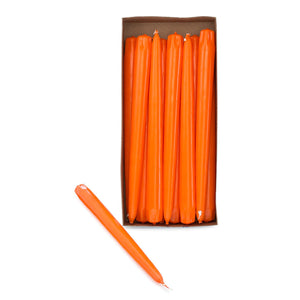 "10"" Orange Taper Candles (Pack of 12) - ifloral.com"