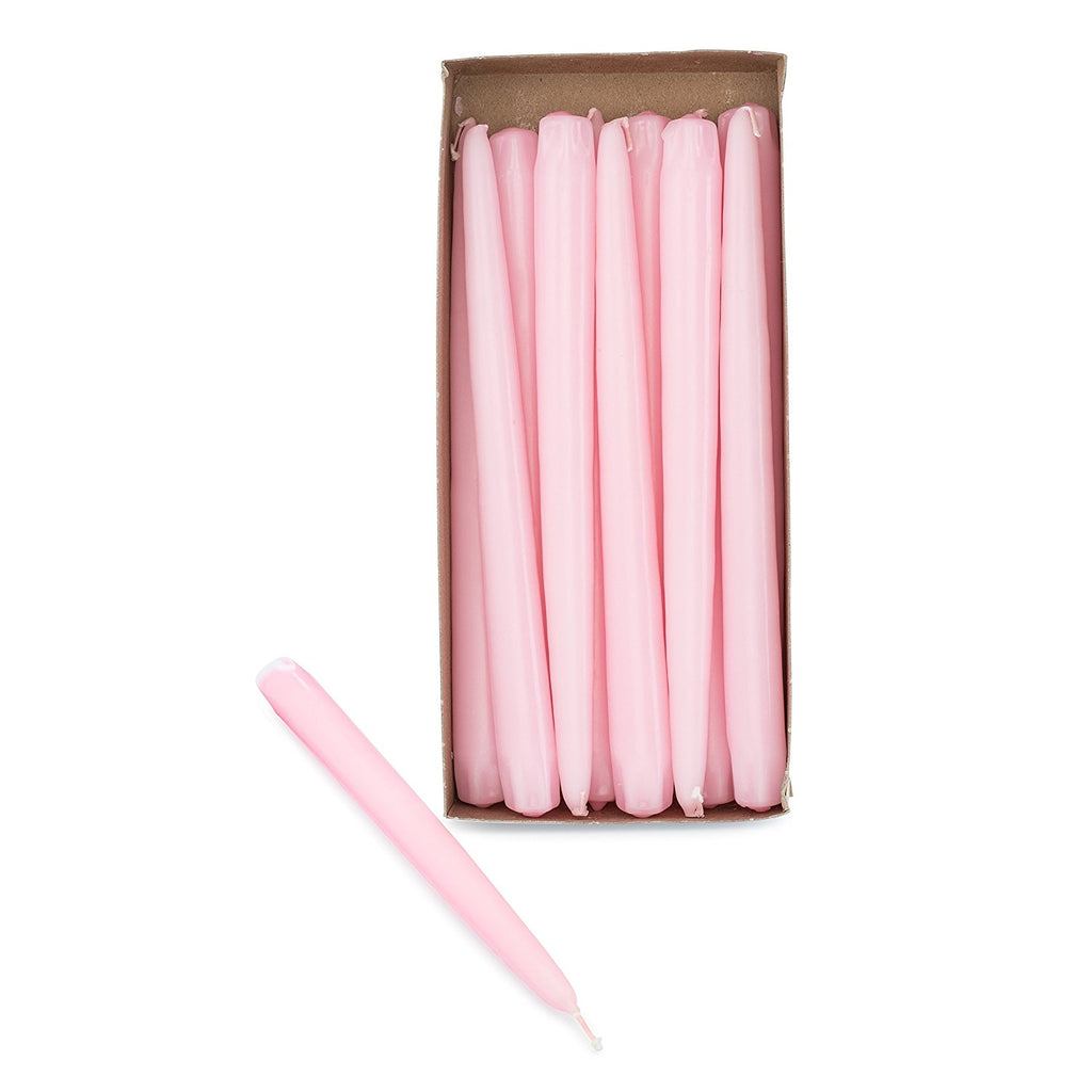"10"" Pink Taper Candles (Pack of 12) - ifloral.com"