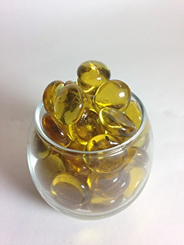 Yellow Gems, Marbles - 5 Pound Bulk Bag - ifloral.com