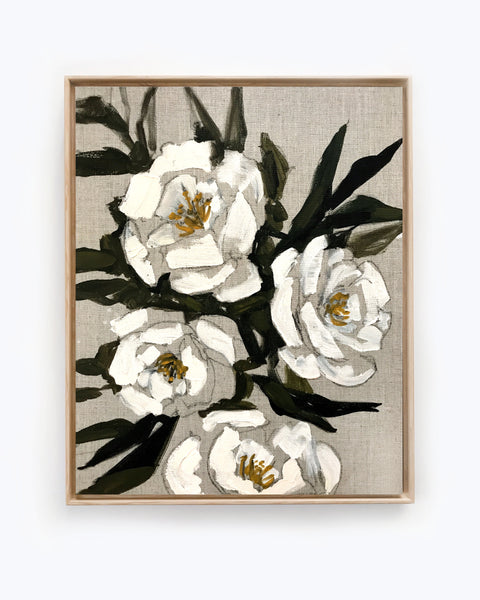 Floral on Linen XIV