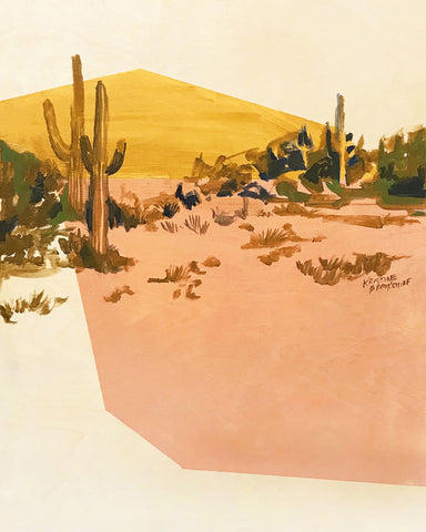 Print of Suede and Rosé Desert
